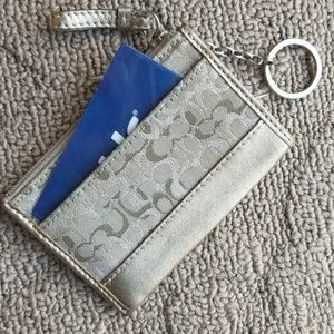 Coach ID Credit Card keyring change purse